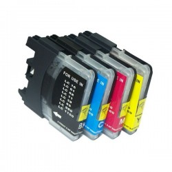 Pack Economico 4 Tinteiros Compativeis Brother LC980 / LC1100