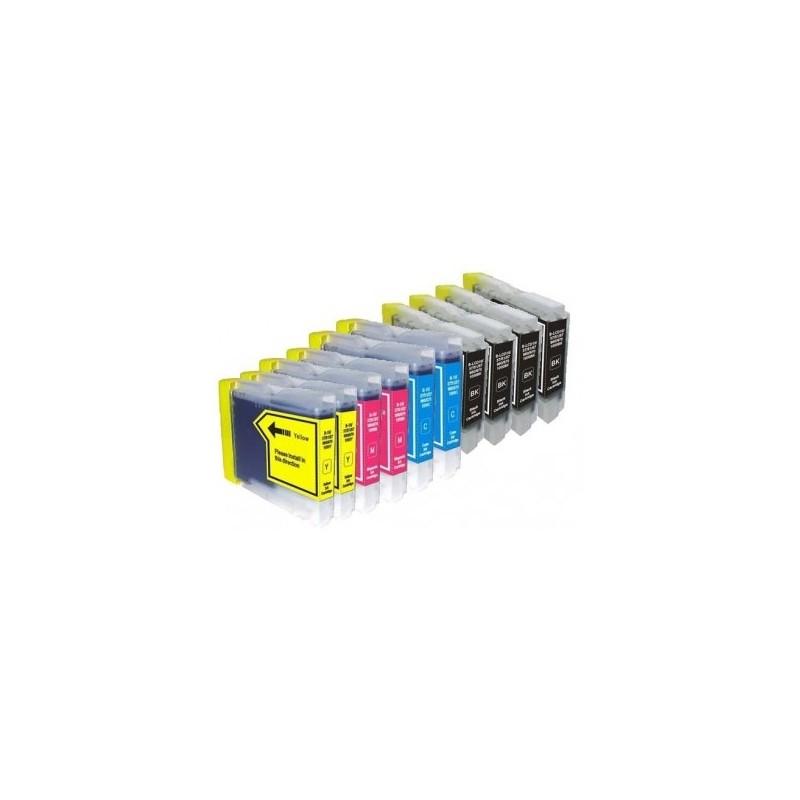 Pack Económico 10 Tinteiros Compativeis LC1000 / 970