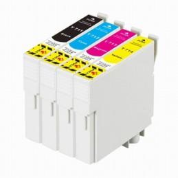 Pack Economico 4 Tinteiros Compativeis Epson T0711/2/3/4 - T0891/2/3/4