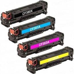 CF380X, CF381,2,3A Pack Toners Compativeis