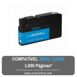 LEXMARK 200XL, 210XL Ciano Tinteiro Compatível