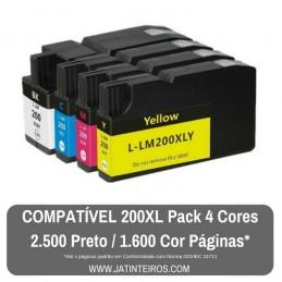 LEXMARK 200XL, 210XL Pack 4 Cores Tinteiros Compatíveis