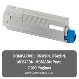 C532DN, C542DN, MC573DN, MC563DN Preto Toner Compativel