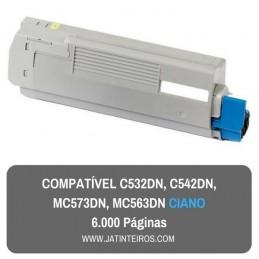 C532DN, C542DN, MC573DN, MC563DN Ciano Toner Compativel