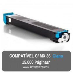 MX36 Ciano Toner Compativel