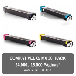 MX36 Pack Toners Compativeis
