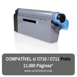 C710, C711 Preto Toner Compativel