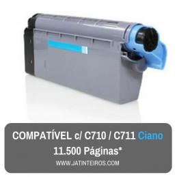 C710, C711 Ciano Toner Compativel