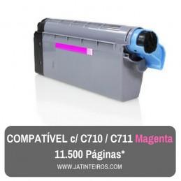 C710, C711 Magenta Toner Compativel