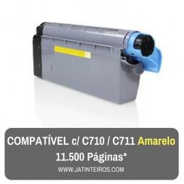 C710, C711 Amarelo Toner Compativel