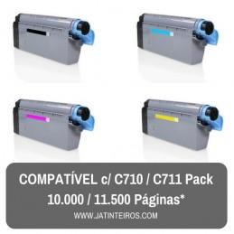 C710, C711 Pack Toners Compativeis