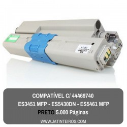 ES3451 MFP, ES5430DN, ES5461 MFP Preto Toner Compativel 44469814