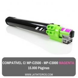 MP-C2500, MP-C3000 Ciano Toner Compatível