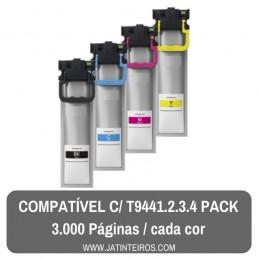 T9441-2-3-4 Pack Tinteiros Compativeis