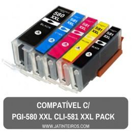 PGI-580 + CLI-581 XXL Pack Tinteiros Compativeis