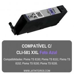 CLI-581 XXL Foto Azul Tinteiro Compativel