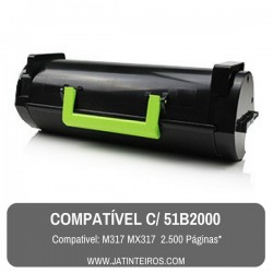 51B2000 MS317, MX317 Toner Compativel Preto