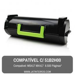 51B2X00 MS517, MS617, MX517, MX617 Toner Compativel Preto