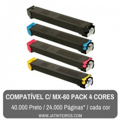 MX-60 Pack Toners Compativeis