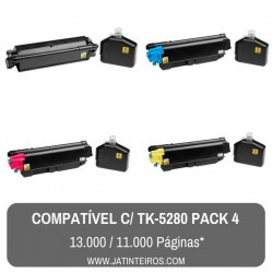 TK-5280 Pack Toners Compativeis