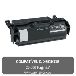 X651H11E Toner Compativel Preto