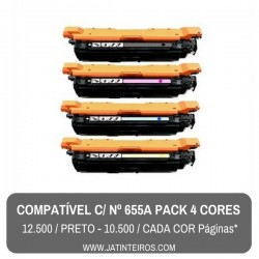 Nº 655A Pack Toners Compativeis