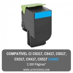 CS317, CS417, CS517, CX317, CX417, CX517 Ciano Toner Compativel