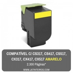 CS317, CS417, CS517, CX317, CX417, CX517 Amarelo Toner Compativel