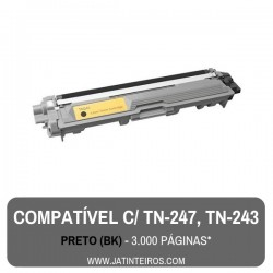 TN-247, TN-243 Preto Toner Compativel