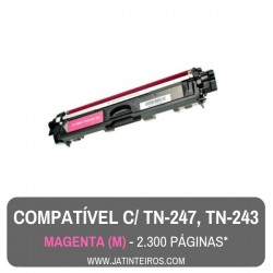 TN-247, TN-243 Ciano Toner Compativel