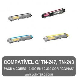 TN-247, TN-243 Magenta Toner Compativel