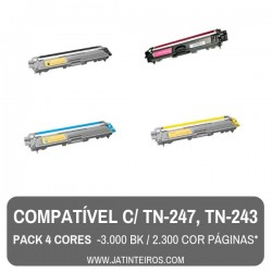 TN-247, TN-243 Magenta Toner Compativel