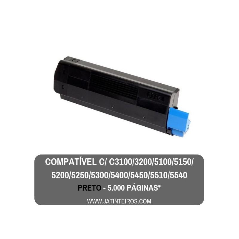 C5100, C5200, C5300, C5400, C5250, C5450, C3100, C3200 Preto Toner Compativel