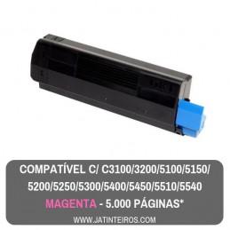 C5100, C5200, C5300, C5400, C5250, C5450, C3100, C3200 Ciano Toner Compativel