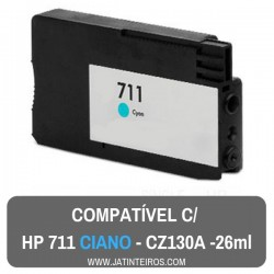 HP 711 Ciano Tinteiro Compativel