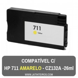 HP 711 Amarelo Tinteiro Compativel