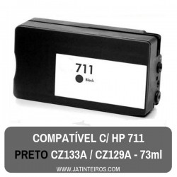 HP 711 Preto Tinteiro Compativel