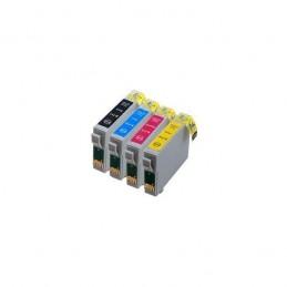 Pack 4 Cores Económico Compatível c/ Epson T1281/2/3/4