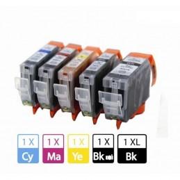 Pack 5 Cores PGI520BK + CLI521BK/C/M/Y