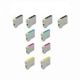 PACK ECONOMICO 10 TINTEIROS COMPATIVEIS EPSON T1291/2/3/4